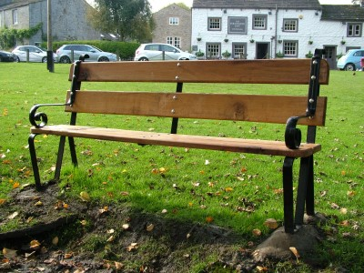 Bench on Linton Village Green